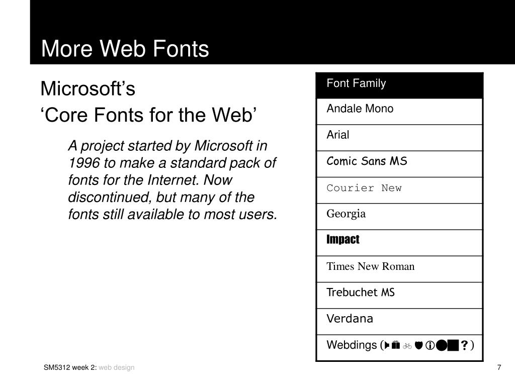 More Web Fonts