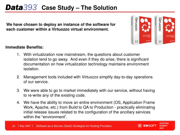 Case Study – The Solution