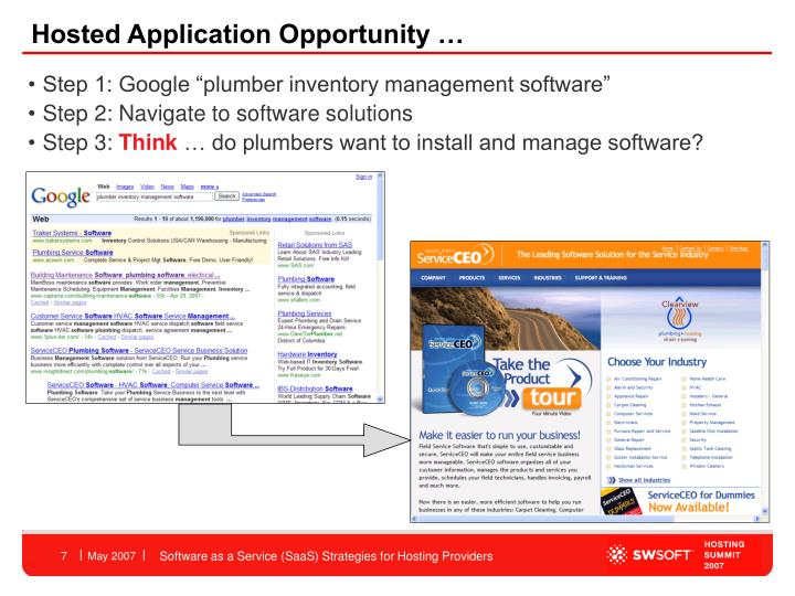 Hosted Application Opportunity …