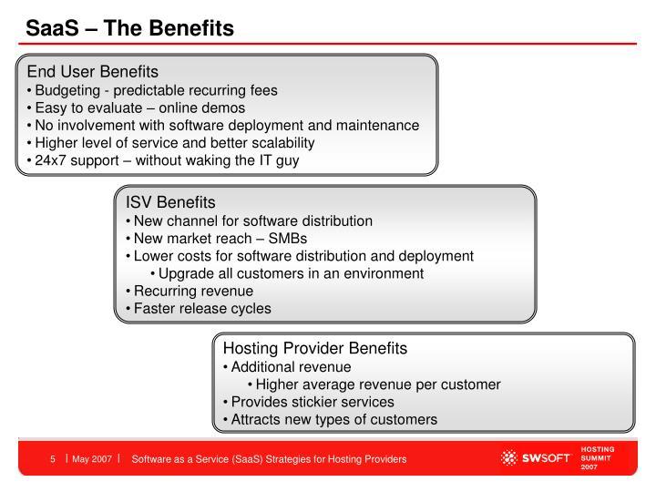 SaaS – The Benefits