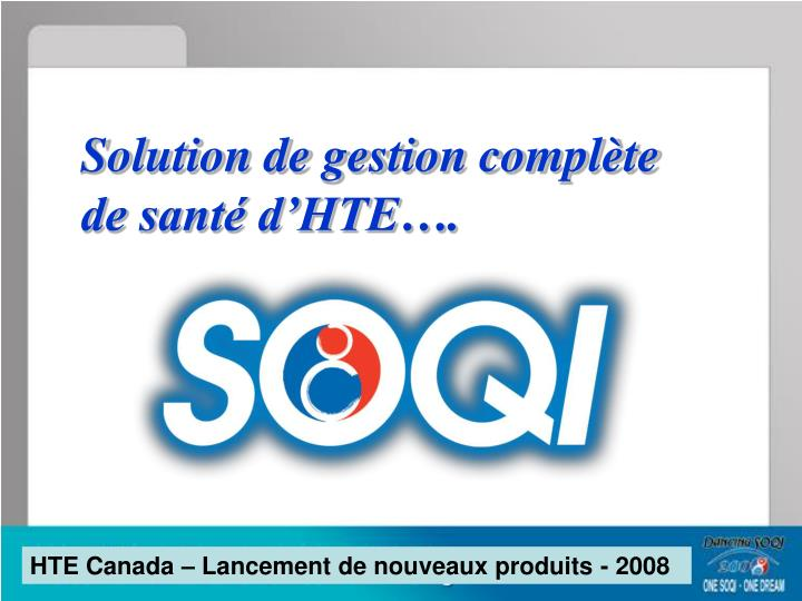 Solution de gestion compl