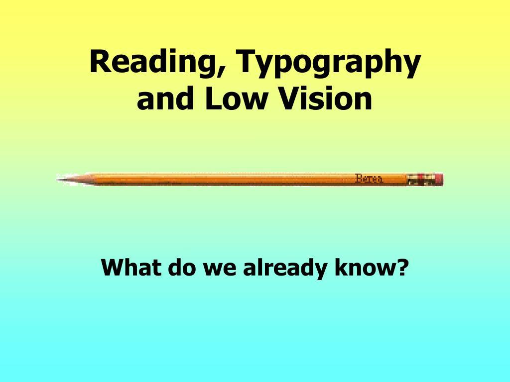 Reading, Typography