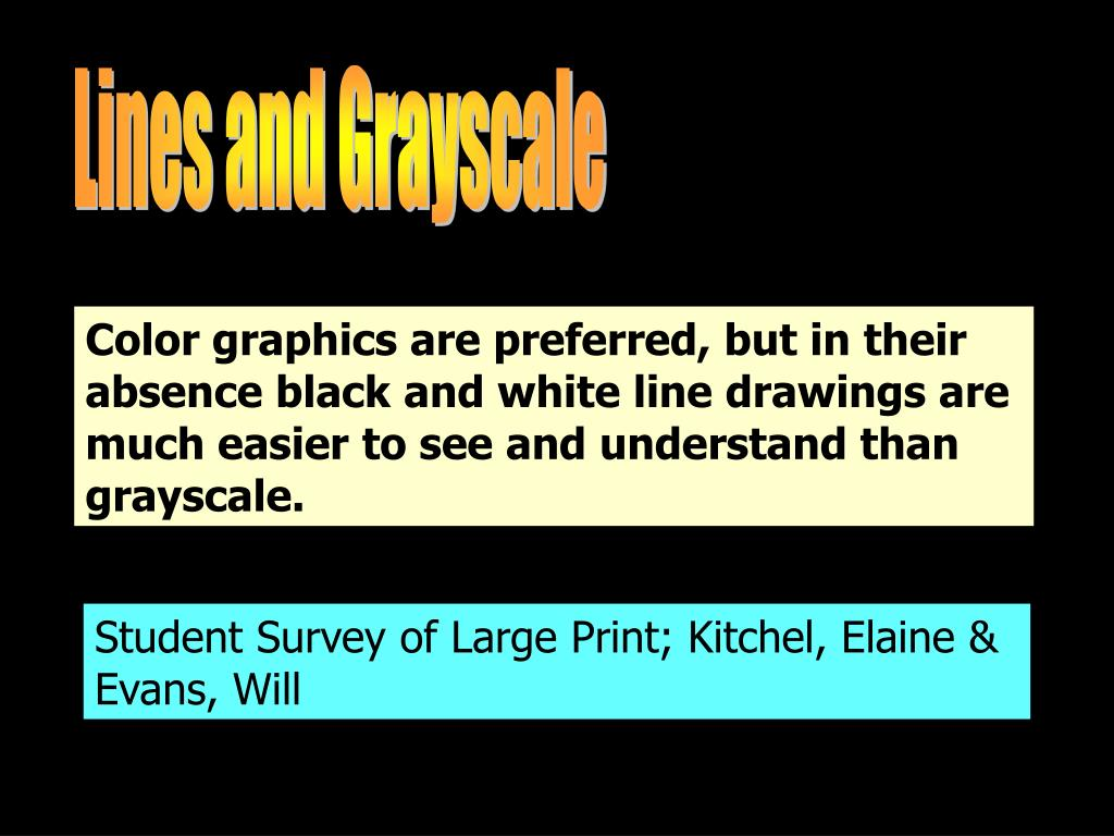 Lines and Grayscale