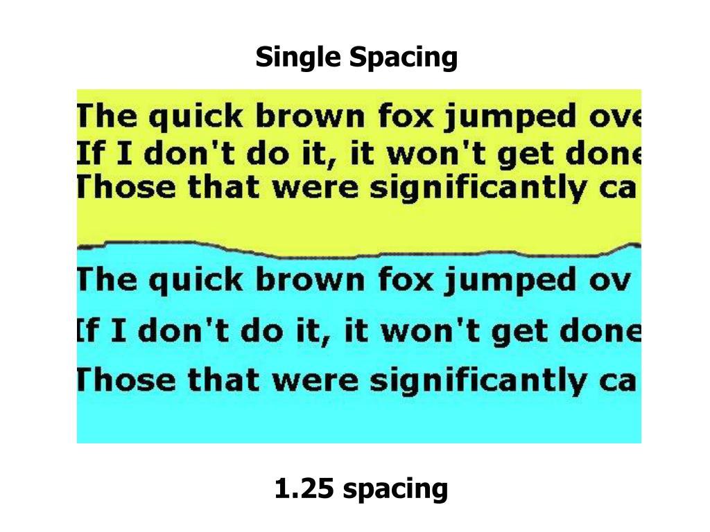Single Spacing
