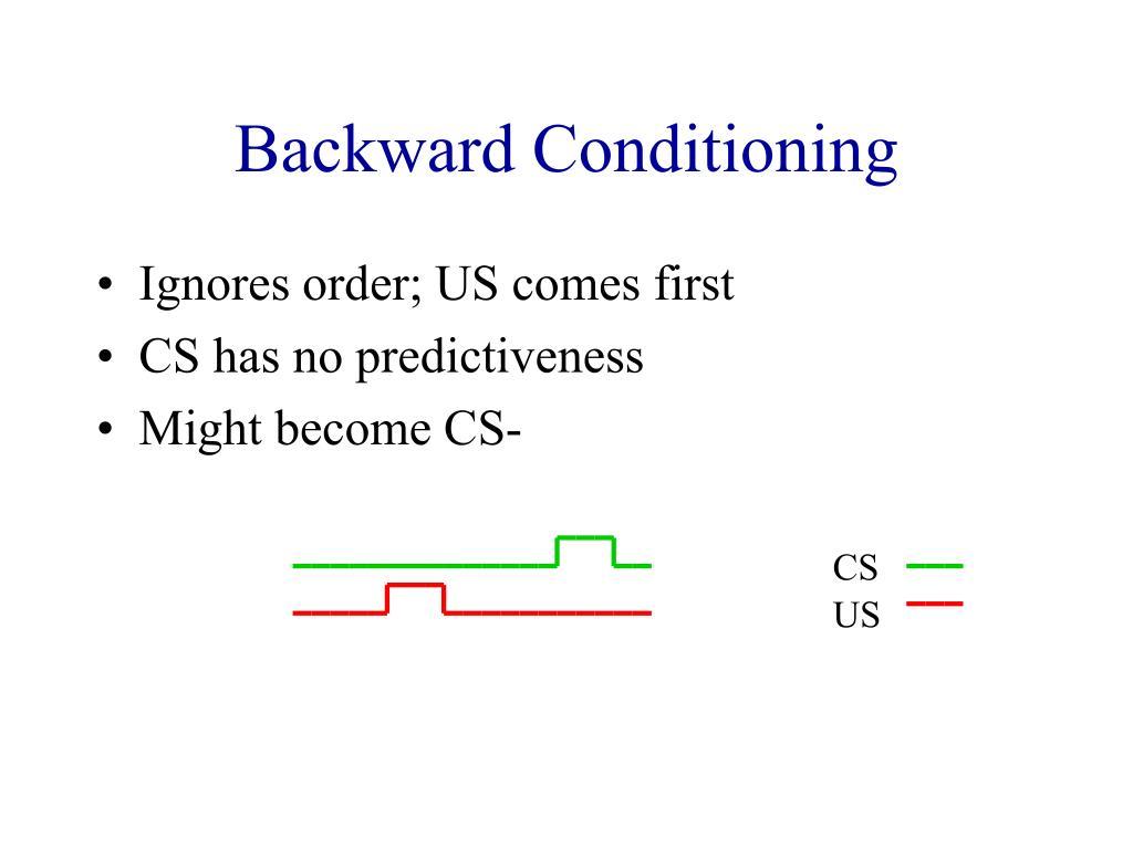 Backward Conditioning