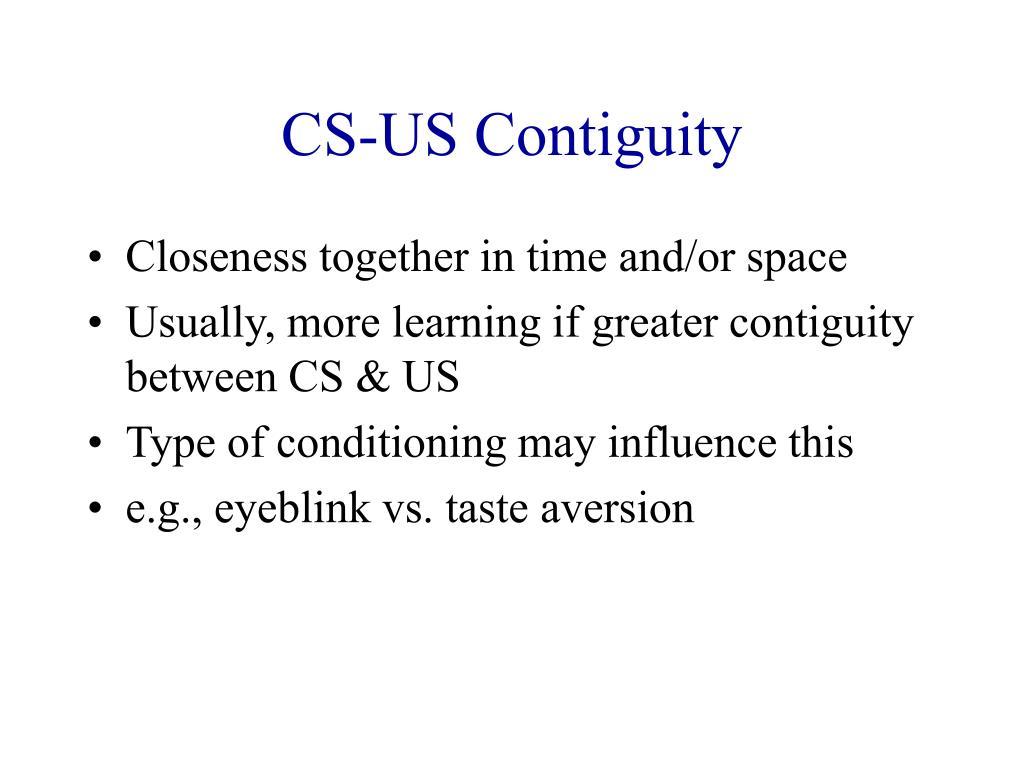 CS-US Contiguity