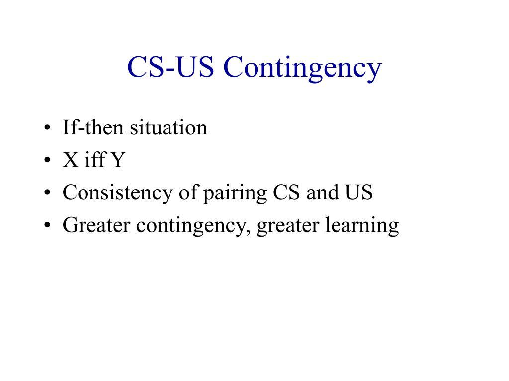 CS-US Contingency