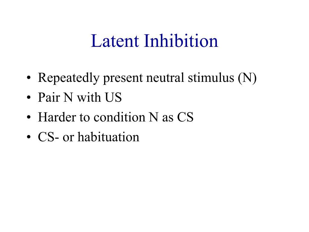 Latent Inhibition