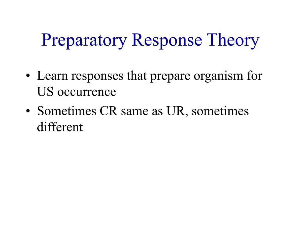 Preparatory Response Theory