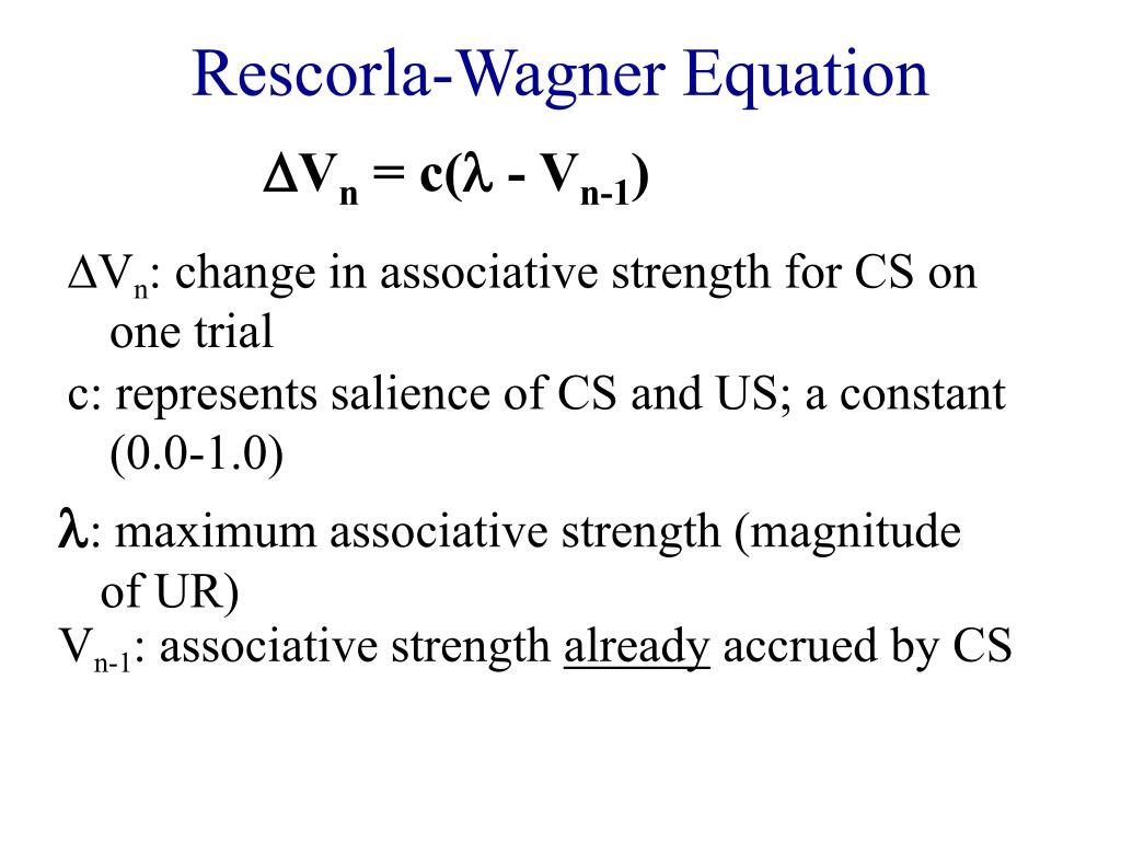 Rescorla-Wagner Equation