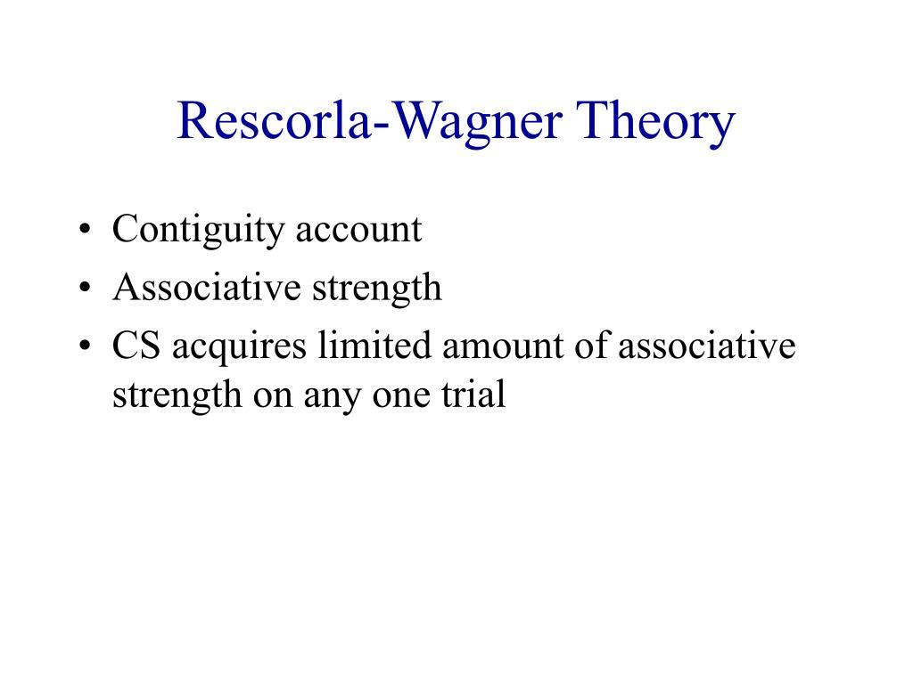 Rescorla-Wagner Theory