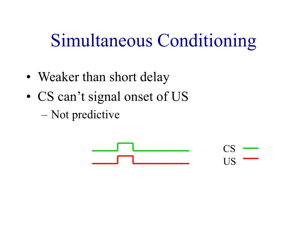 Simultaneous Conditioning