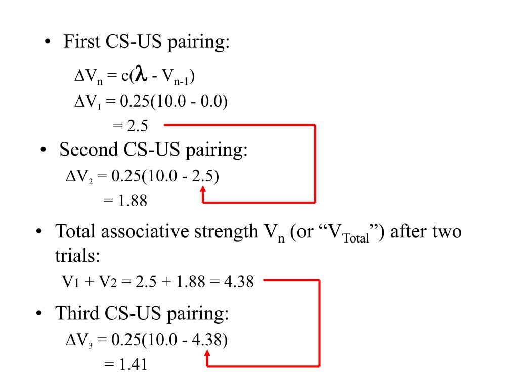 First CS-US pairing: