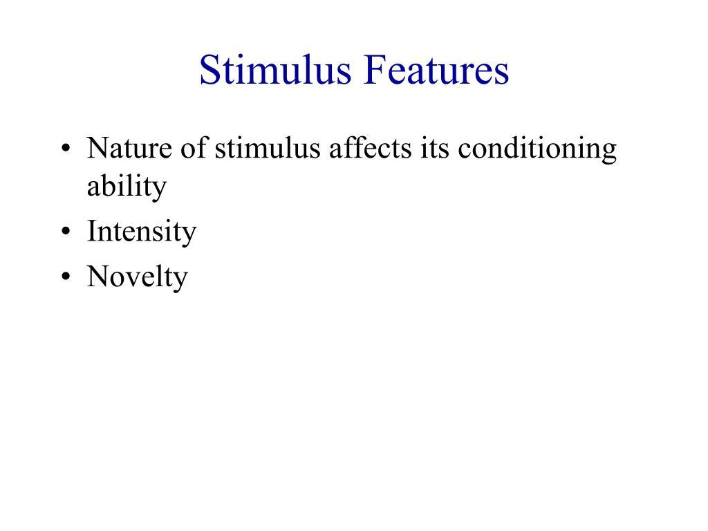 Stimulus Features