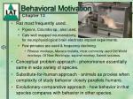 behavioral motivation