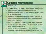 catheter maintenance