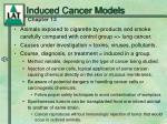 induced cancer models