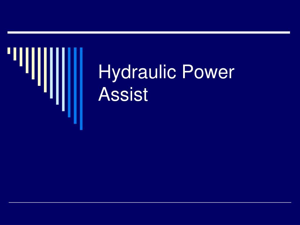 hydraulic power assist l.