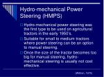 hydro mechanical power steering hmps