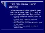 hydro mechanical power steering