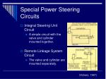 special power steering circuits