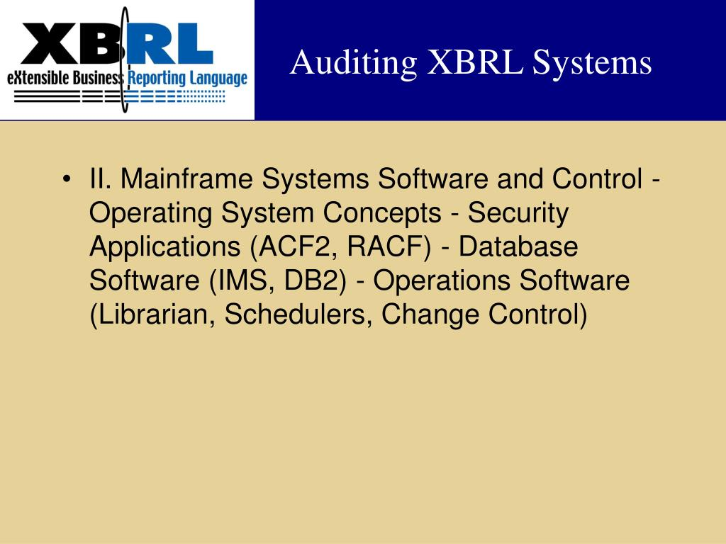 Auditing XBRL Systems