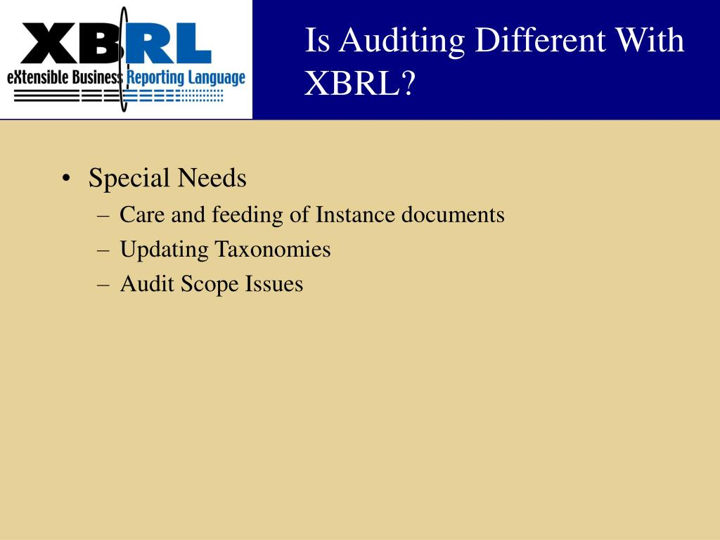 Is Auditing Different With XBRL?
