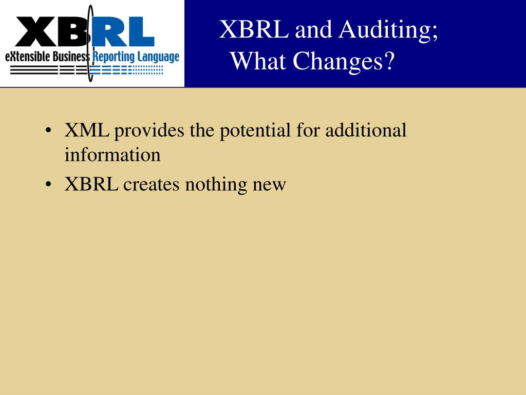 XBRL and Auditing;