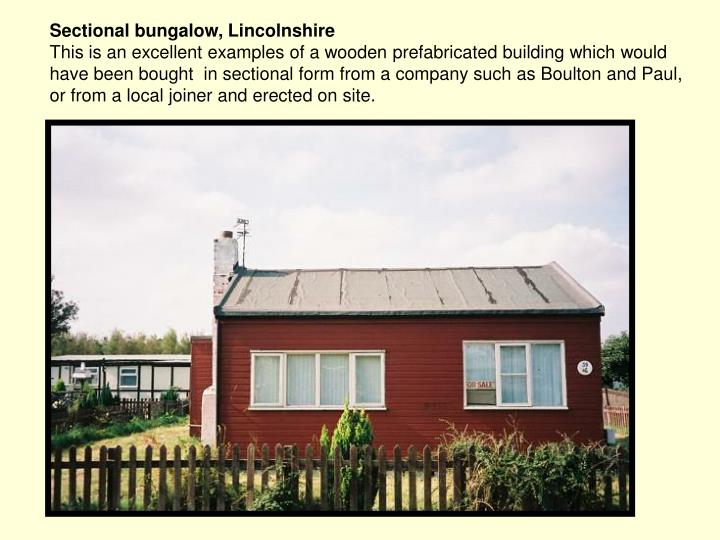 Sectional bungalow, Lincolnshire