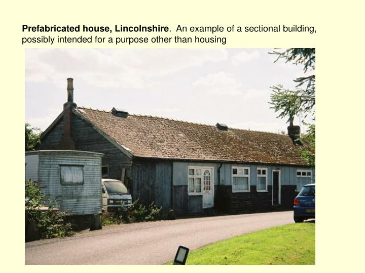 Prefabricated house, Lincolnshire