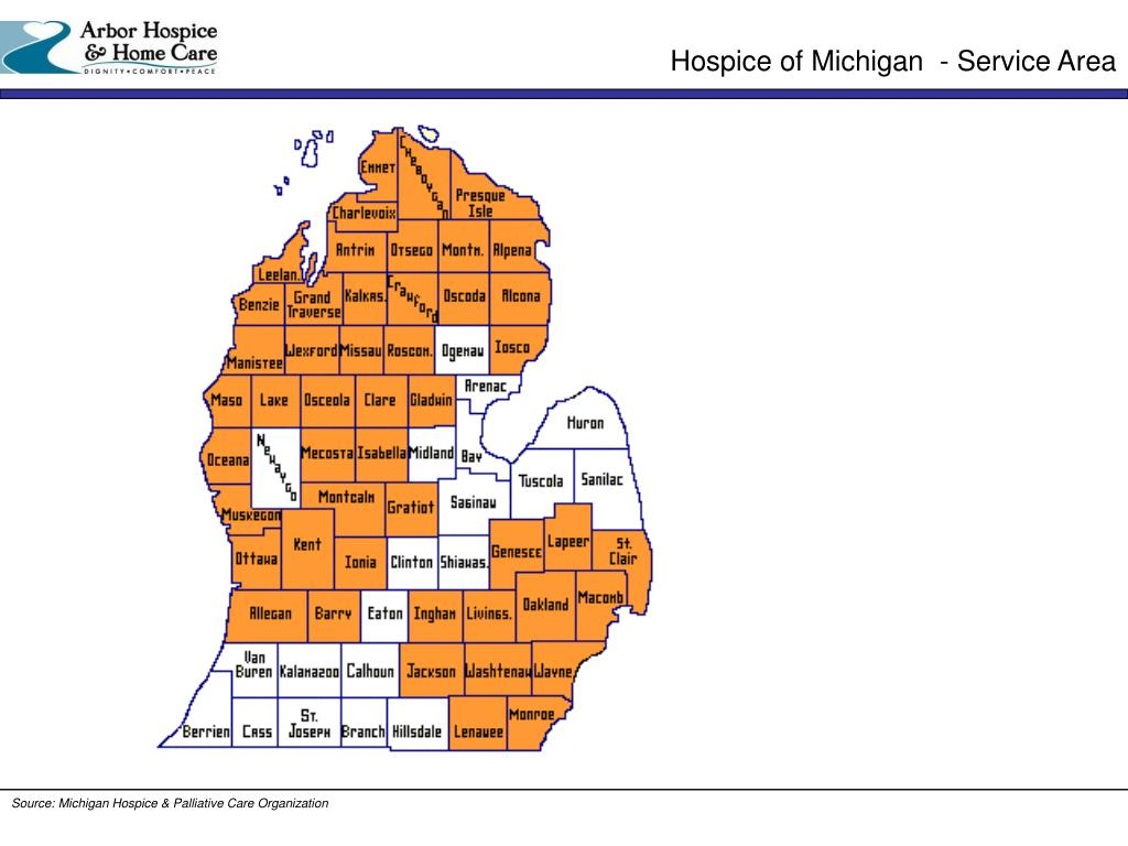 Hospice of Michigan  - Service Area
