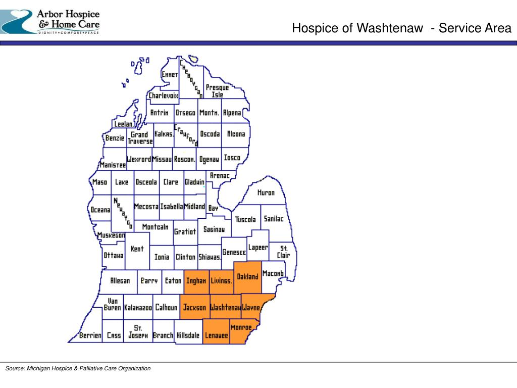 Hospice of Washtenaw  - Service Area