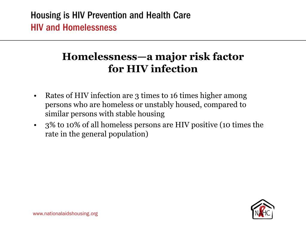 Homelessness—a major risk factor