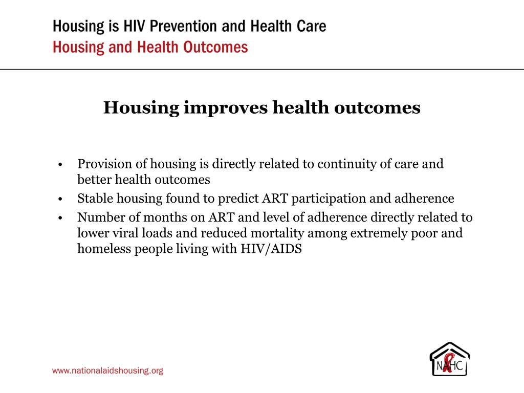 Housing improves health outcomes