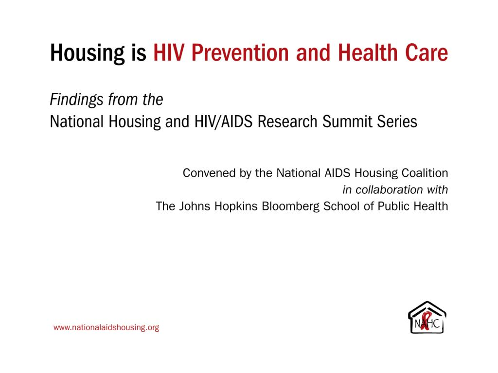 Housing is HIV Prevention
