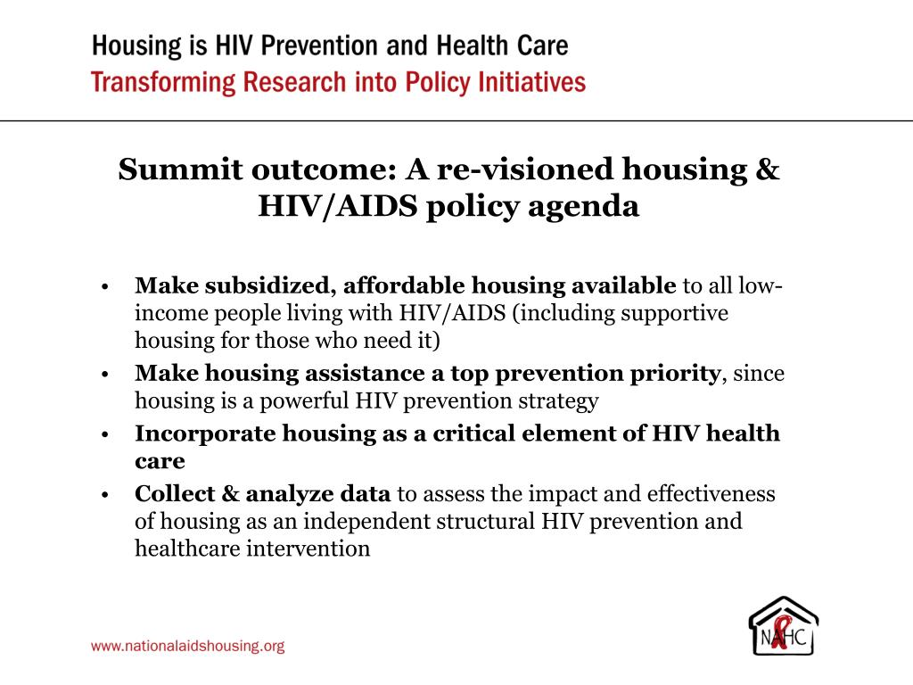 Summit outcome: A re-visioned housing & HIV/AIDS policy agenda