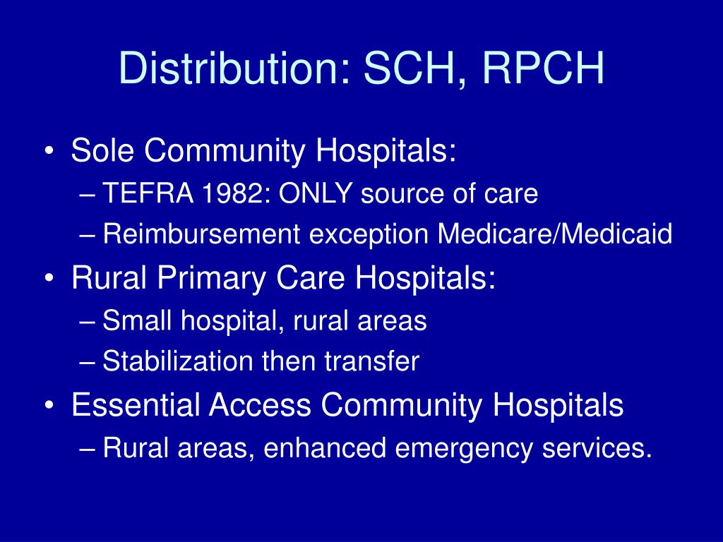 Distribution: SCH, RPCH