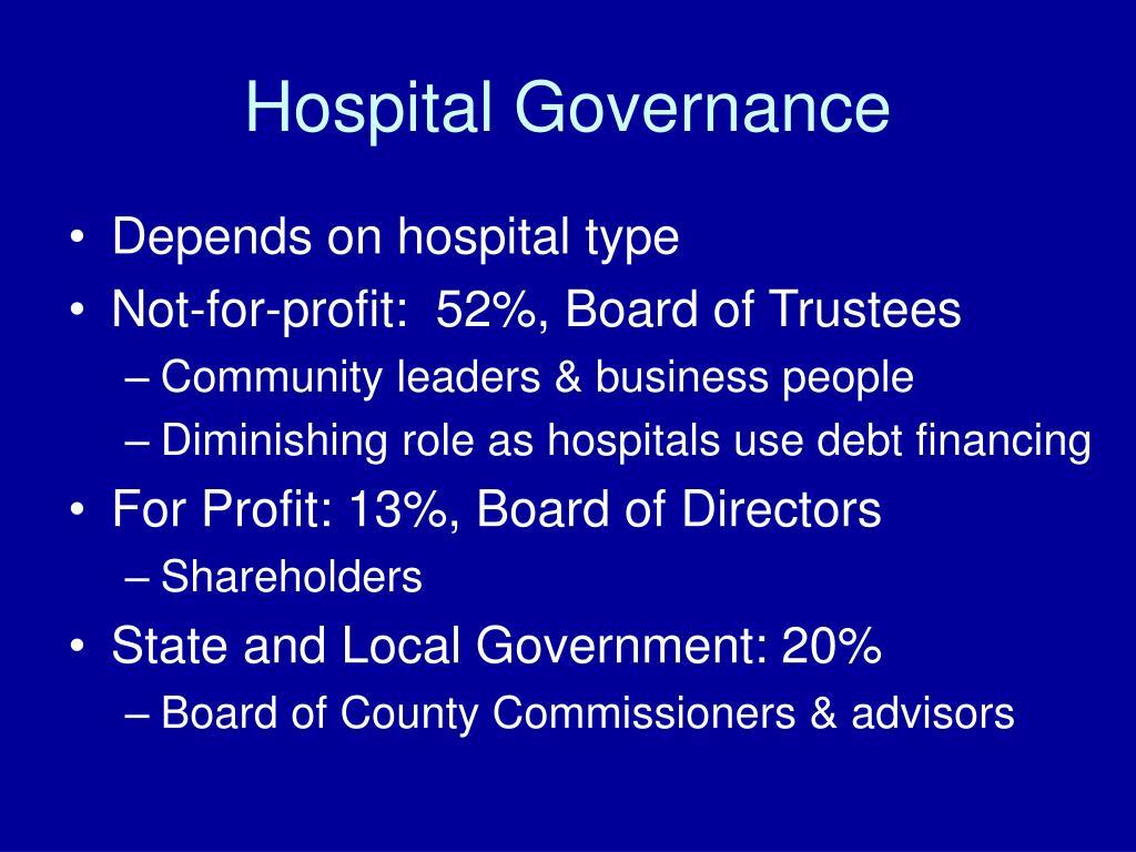 Hospital Governance