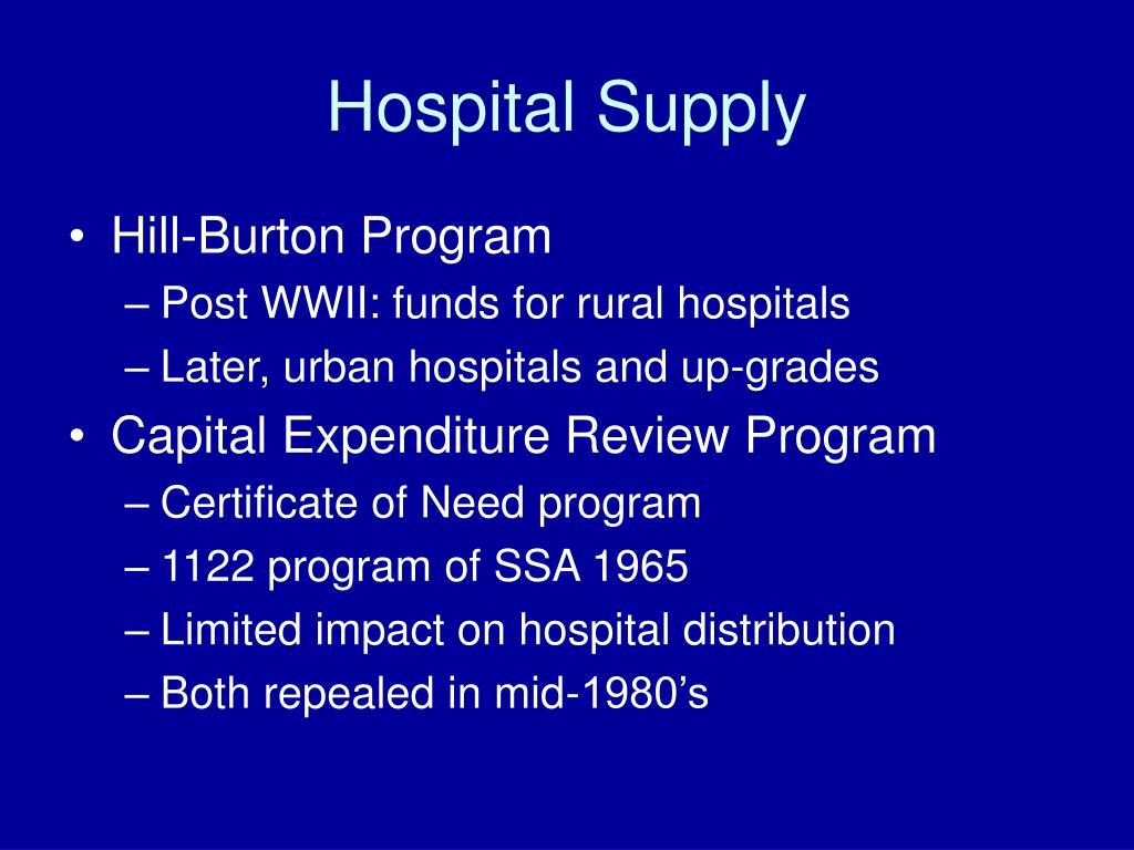 Hospital Supply