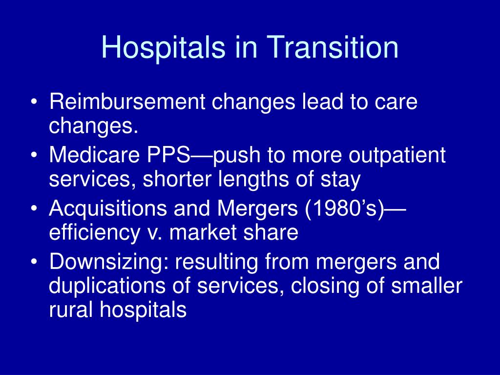 Hospitals in Transition