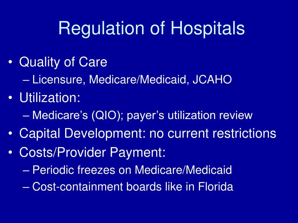 Regulation of Hospitals