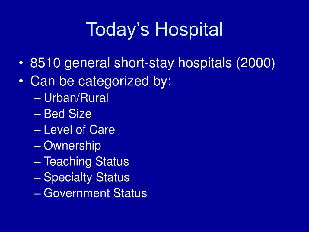 Today's Hospital