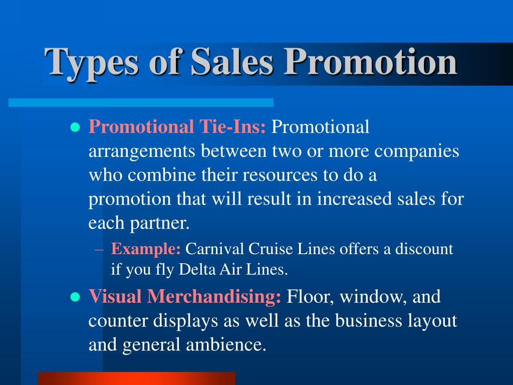 Promotional Tie-Ins: