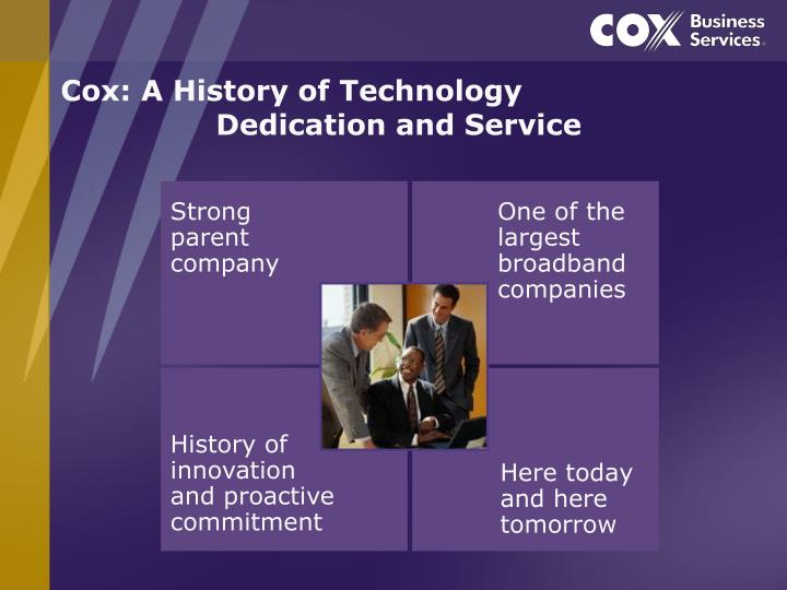 Cox a history of technology dedication and service