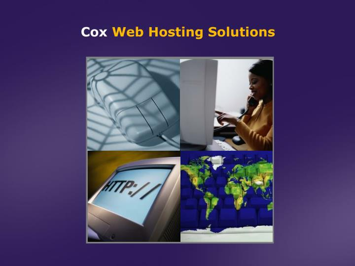 Cox web hosting solutions