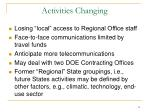 activities changing