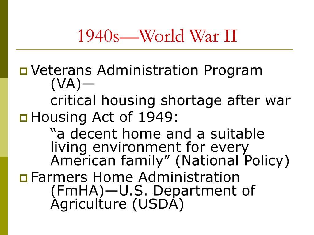 1940s—World War II