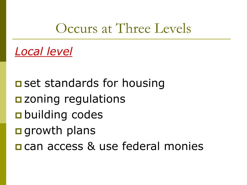 Occurs at Three Levels