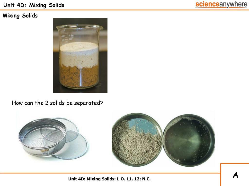 Unit 4D: Mixing Solids