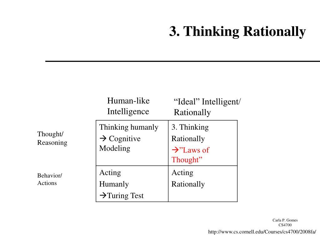 3. Thinking Rationally